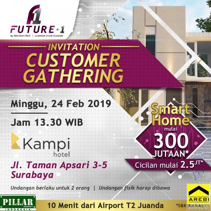Future.one rumah smart home sidoarjo